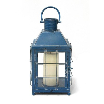 "7.5"" x 15.25"" Lighthouse Lantern Blue - Stratton Home Décor"