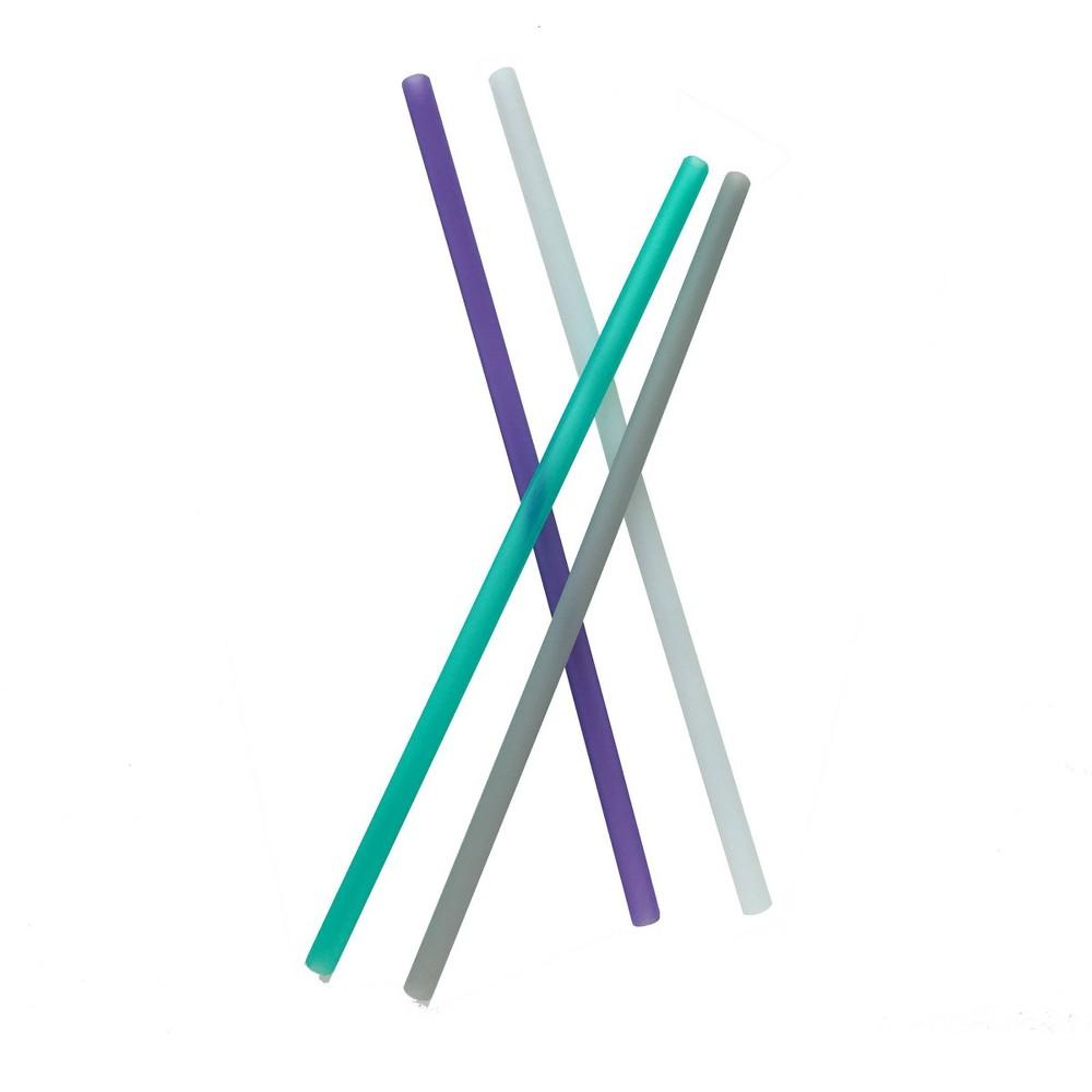 """Image of """"GoSili 10.5"""""""" 4pk Silicone Reusable Straws"""""""