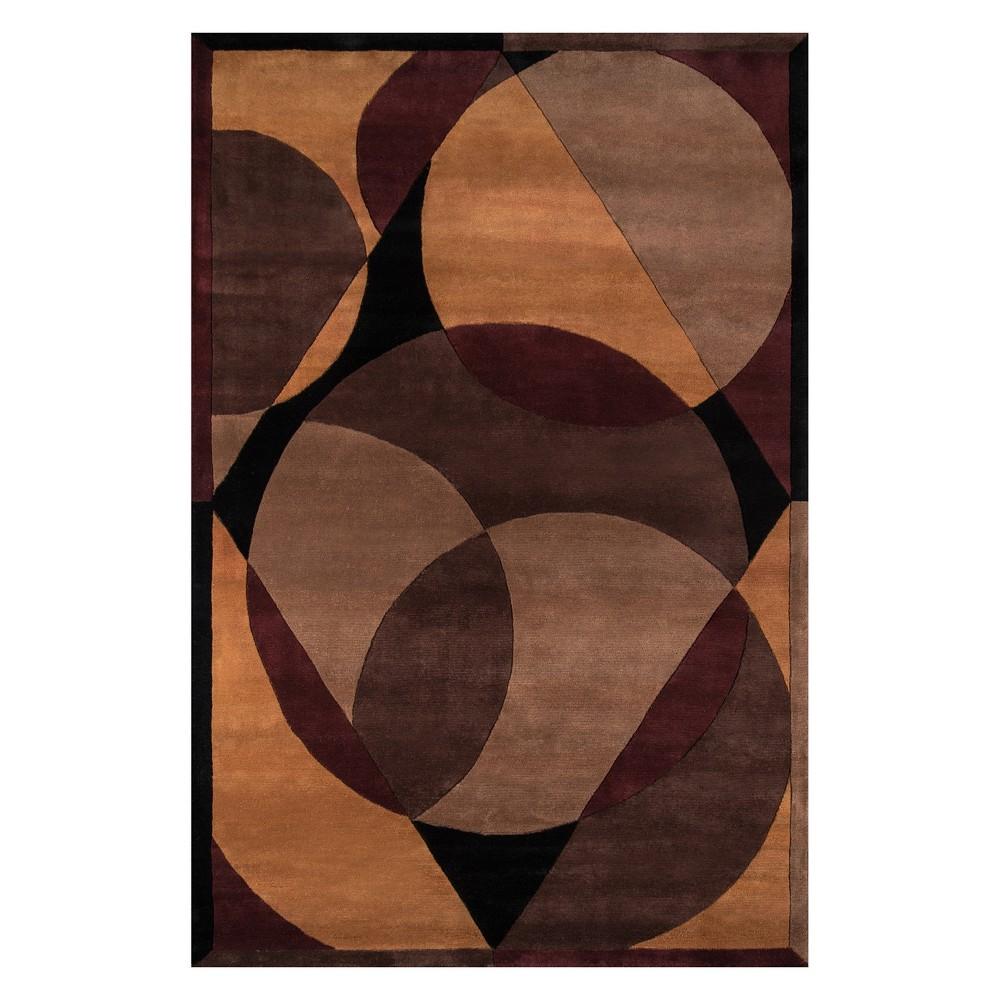 8'X11' Geometric Tufted Area Rug Brown - Momeni