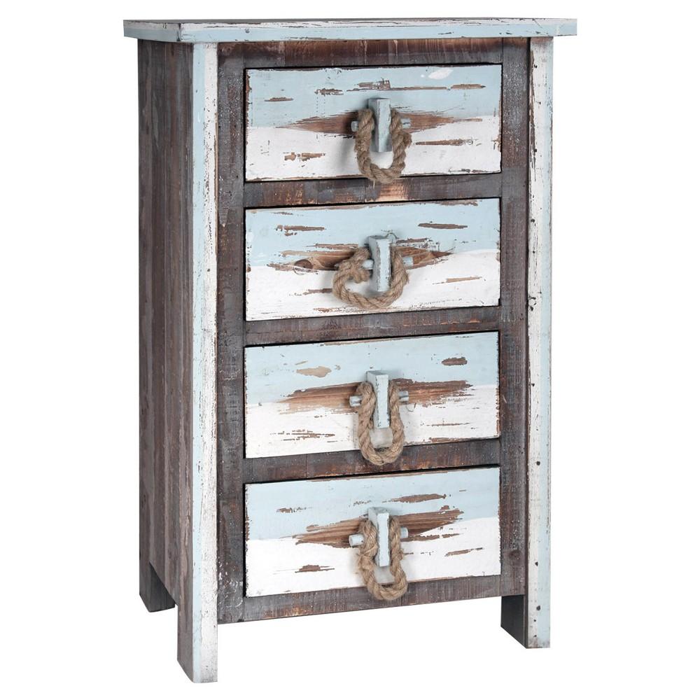 4 Drawer Distressed Wood Chest - Distressed Gray - Stylecraft