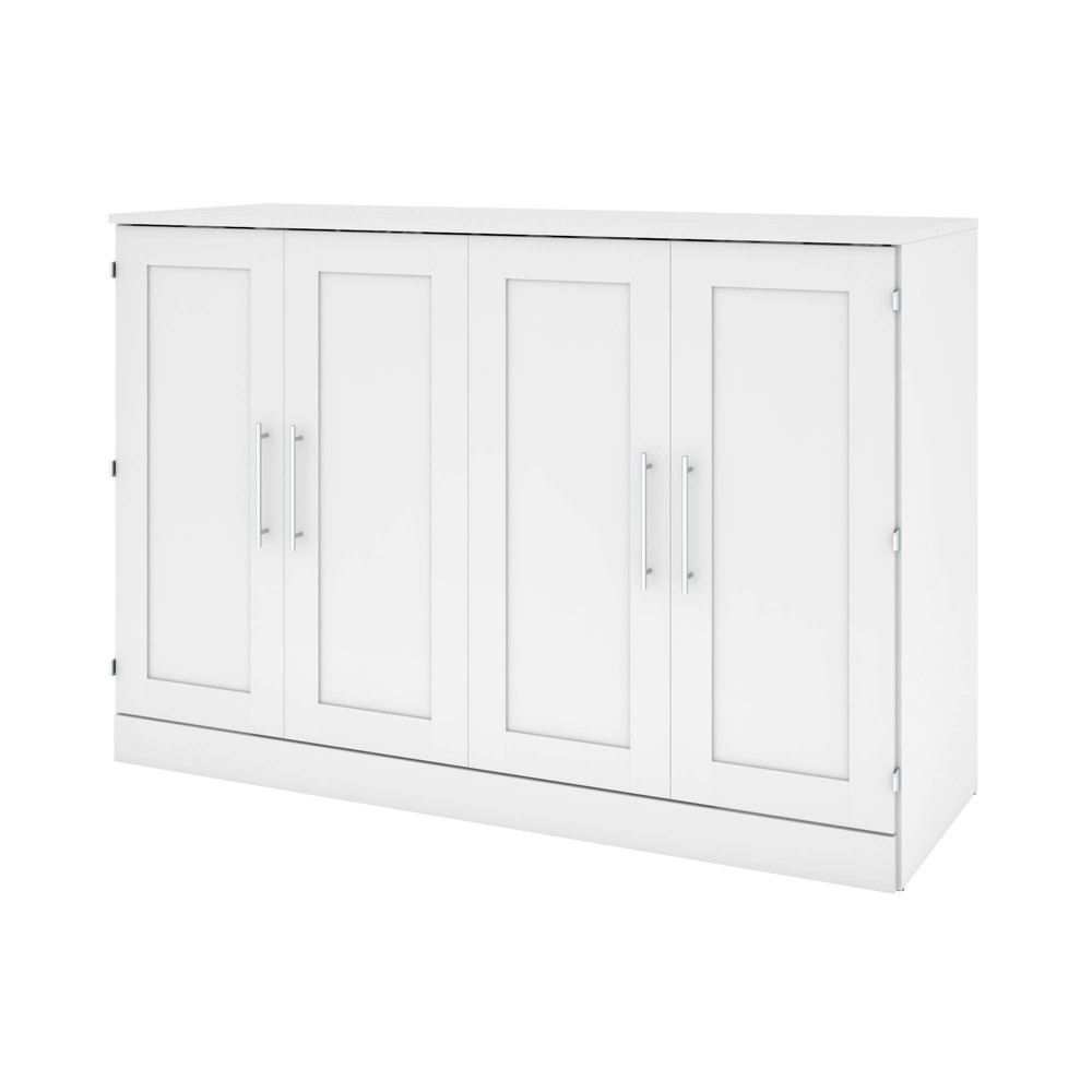 Image of Queen Cabinet Bed with Mattress White - Bestar