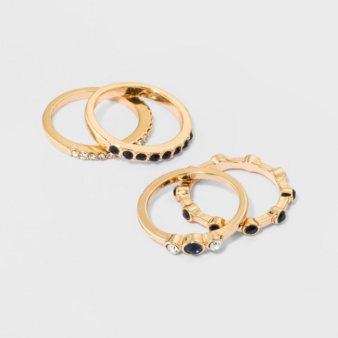Mixed Ring Set 4pc - A New Day™ Gold - image 1 of 1