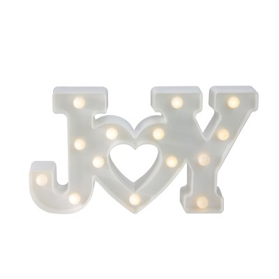 "Northlight 12.75"" Battery Operated LED Lighted ""JOY"" Christmas Marquee Sign - Warm White"