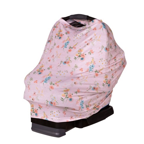 J.L. Childress 4-in-1 Multi-Use Cover Pink Floral - image 1 of 4