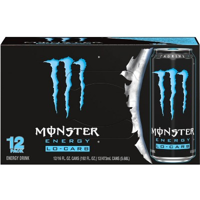 Monster Energy Lo-Carb - 12pk/16 fl oz Cans