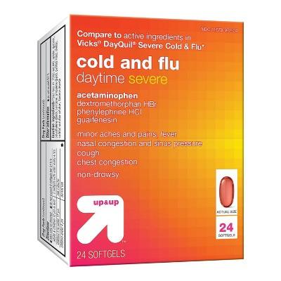 Daytime Severe Cold & Flu Softgel - 24ct - up & up™