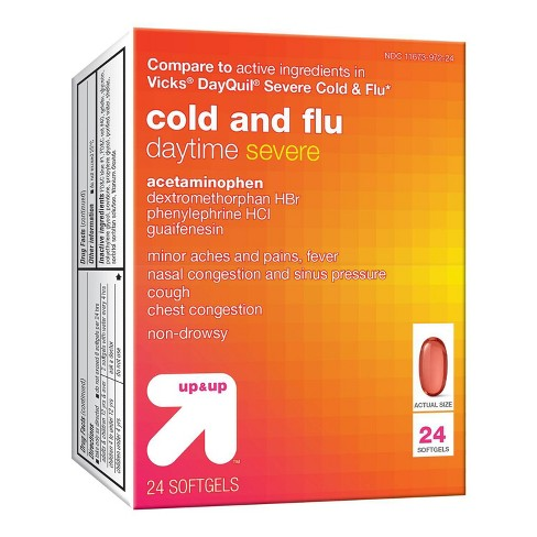 Daytime Severe Cold & Flu Liquid-gel - 24ct - Up&Up™ - image 1 of 4
