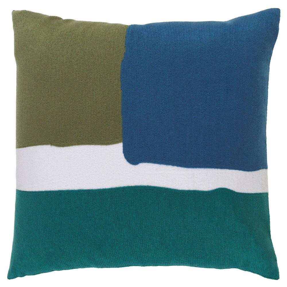 Green Bicknell Woven Throw Pillow (18x18