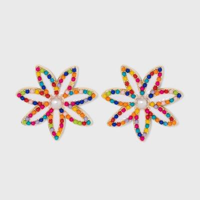 SUGARFIX by BaubleBar Beaded Flower Drop Earrings