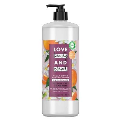 Love Beauty & Planet Vegan Biotin and Sun-Kissed Mandarin Shampoo - 32 fl oz