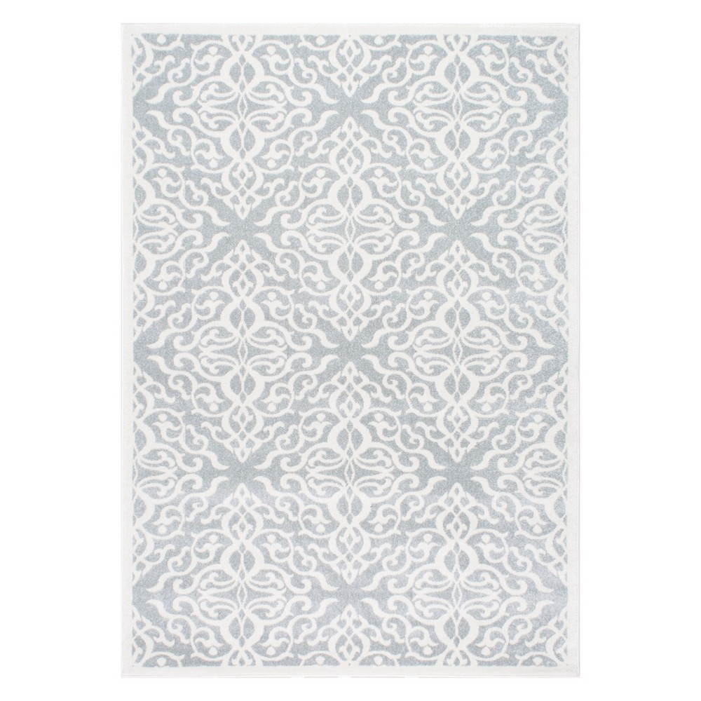 Silver Solid Loomed Area Rug 6'X9' - nuLOOM