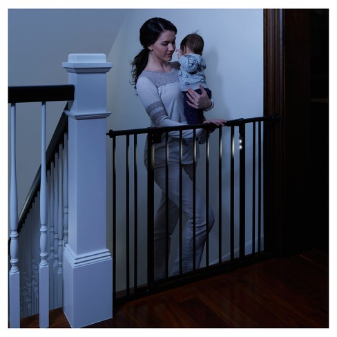 North States Light The Way Baby Gate Bronze 28 25 38 25 Target