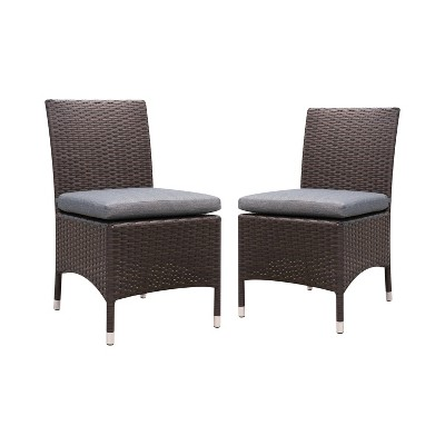 Chadwick 2pk All-Weather Wicker Patio Side Chairs - Furniture of America