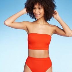 Women's Ribbed Tube Bandeau Bikini Top - Xhilaration™