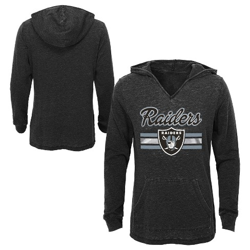 NFL Oakland Raiders Girls  Game Time Gray Burnout Hoodie   Target 9cbcb6bfd