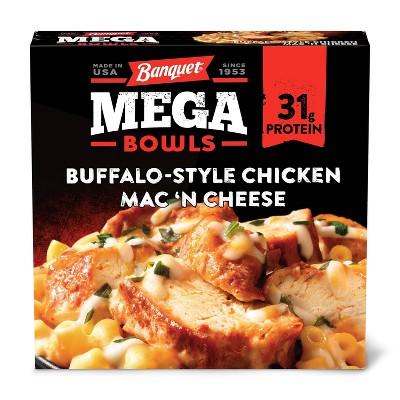 Banquet Frozen Buffalo Style Chicken Mac 'N Cheese  Mega Bowl - 14oz