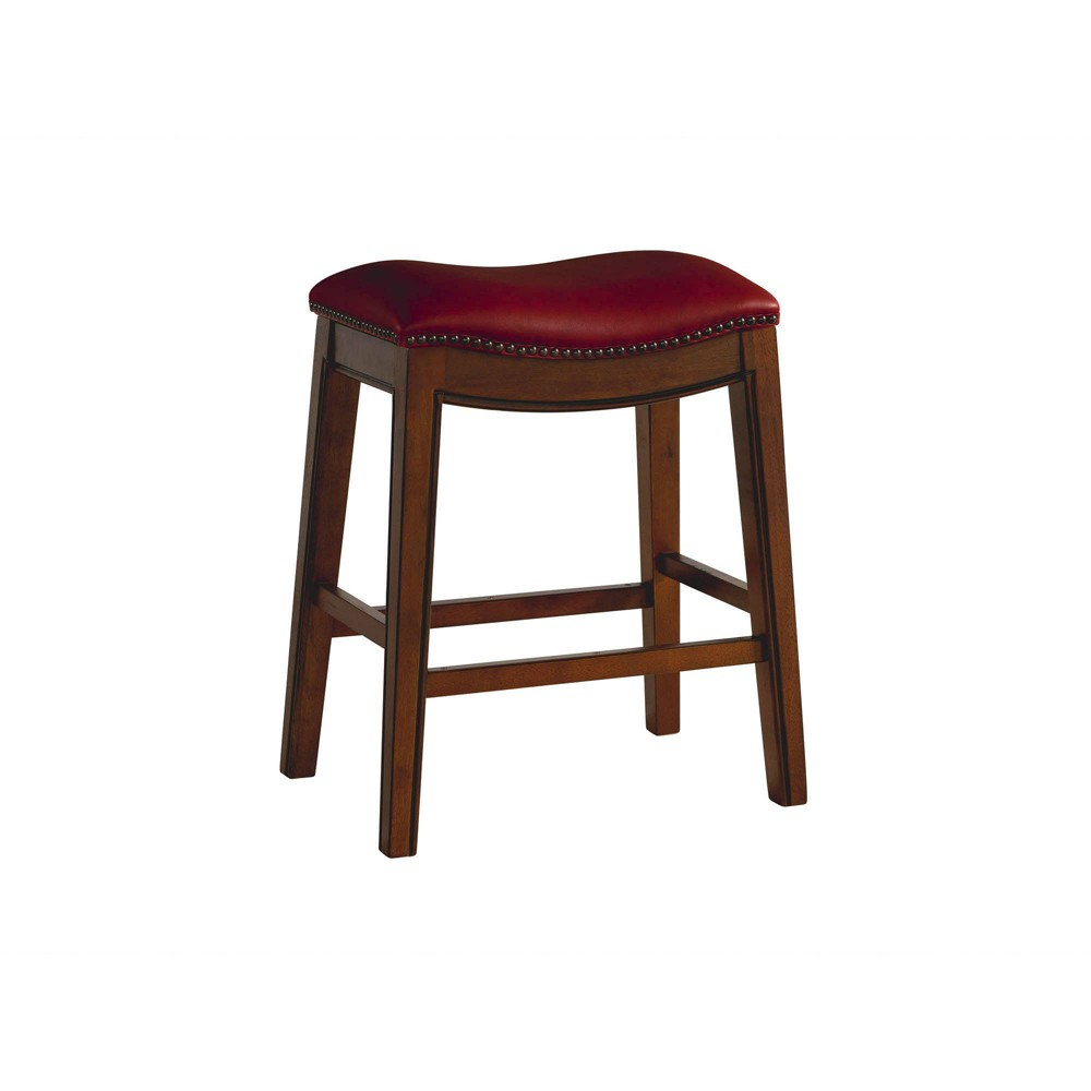 Image of 1pc Bowen Backless Counter Stool Red - Picket House Furnishings