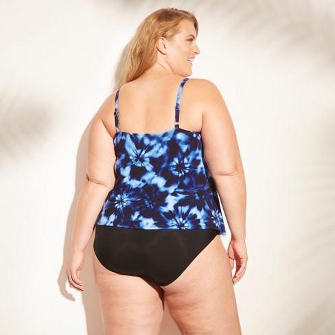 423e979fbf6 Women's Plus Size Tiered Tankini Top - Aqua Green® : Target