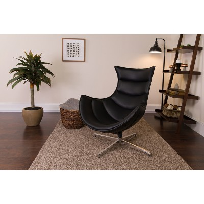 Emma and Oliver Home Office Swivel Cocoon Chair - Living Room Accent Chair
