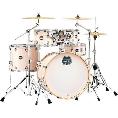 Mapex Mars Series 5-Piece Rock Shell Pack with 22 in. Bass Drum Bonewood Chrome