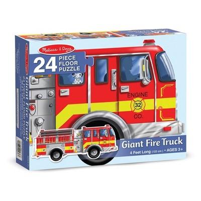 Melissa And Doug Fire Truck Jumbo Floor Puzzle 24pc