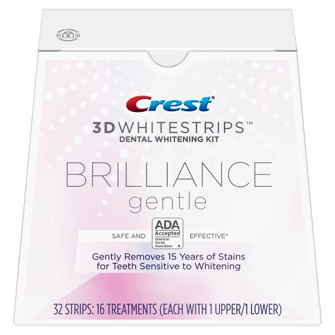 Crest 3D Whitestrips Brilliance Gentle Teeth Whitening Kit - 16ct - image 1 of 7