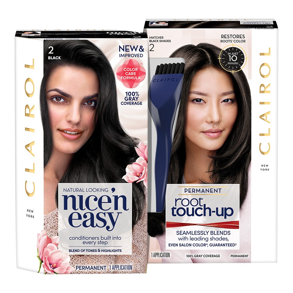 Clairol Nice' N Easy + Root Touch Up Duo Pack - 2 Black