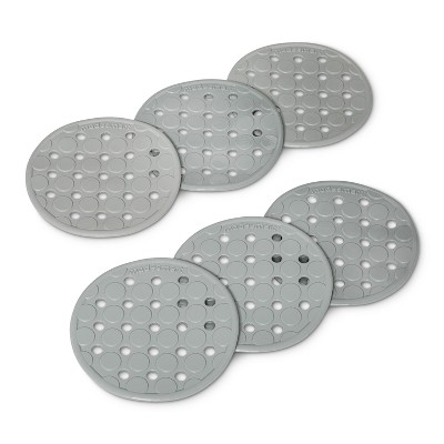 Solid Nonslip Soft Grip Bathtub And Shower Mats Gray - Made Smart