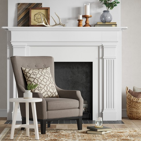 Accent Chairs Wingback.Lewiston Wingback Arm Accent Chair Gray Threshold