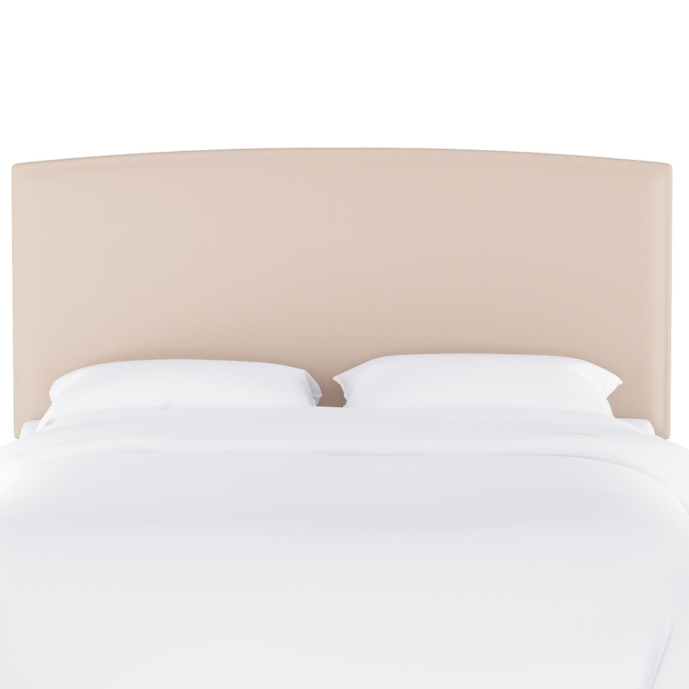 Upholstered Headboard Twin Velvet Ivory - Opalhouse