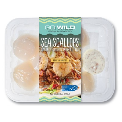 Go Wild Scallops with Bacon & Charred Onion Butter - 8oz