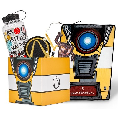 Just Funky Borderlands LookSee Mystery Gift Box #1 | Claptrap Blanket | Lanyard | Water Bottle | More
