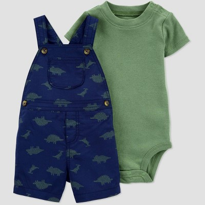 Baby Boys' 2pc Dino Top & Bottom Set - Just One You® made by carter's Dark Blue 24M