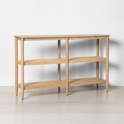 3 Shelf Wood & Cane Bookcase - Hearth & Hand™ with Magnolia