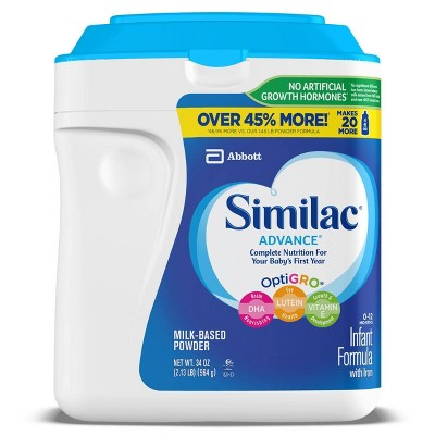 Similac Advance Infant Formula with Iron Powder - 34oz