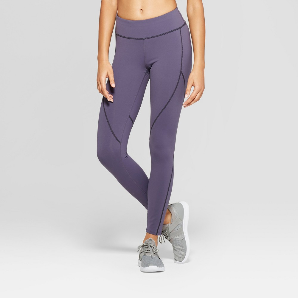 Women's Premium 7/8 Mid-Rise Leggings - JoyLab Stone Gray XS, Stone Grey