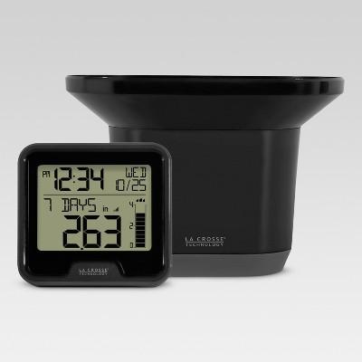 3.54  Digital Rain Gauge with Indoor Temperature - Black - La Crosse Technology