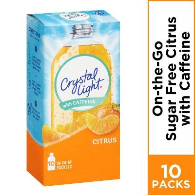 Crystal Light On the Go Citrus Energy Drink Mix - 10pk/.09oz Stix