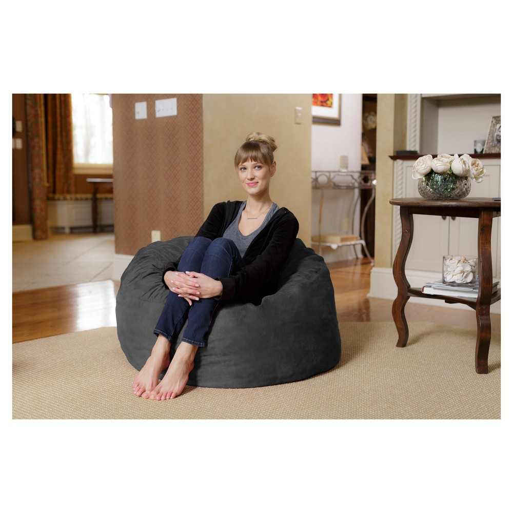 Image of 3 ft Microsuede Sack Charcoal - Relax Sack