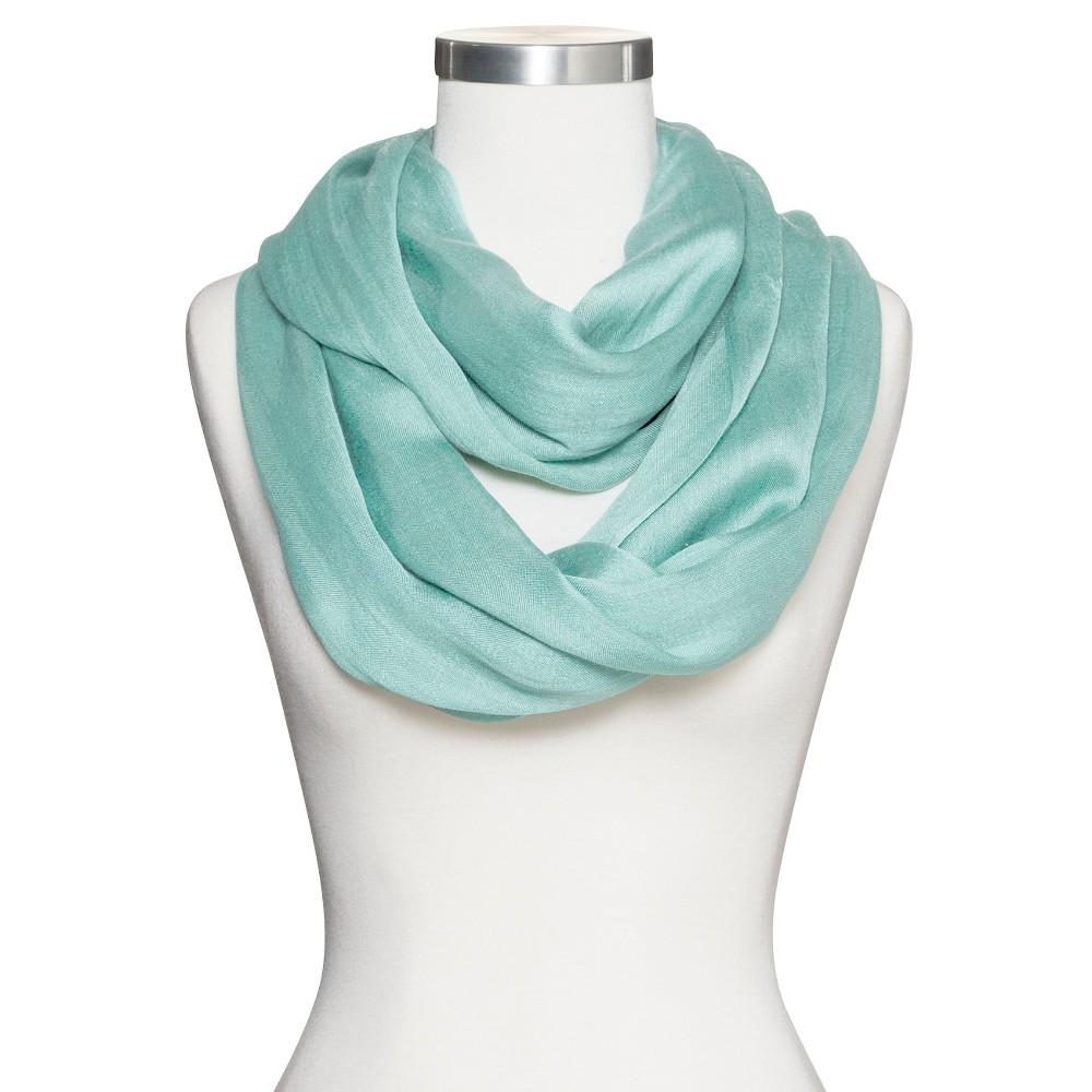 Women's Solid Infinity Scarf - Mint (Green)