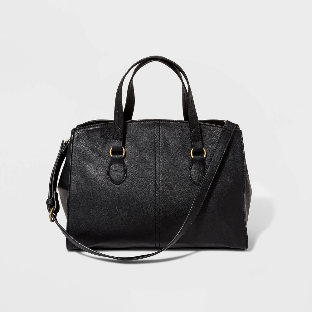 Structured Satchel Handbag - Universal Thread Black was $34.99 now $24.49 (30.0% off)