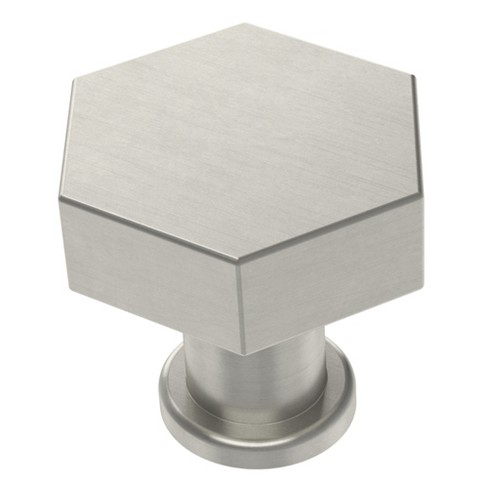 2pk Hexagon Cabinet Knobs and Pulls Satin Nickel - Project 62™ - image 1 of 4