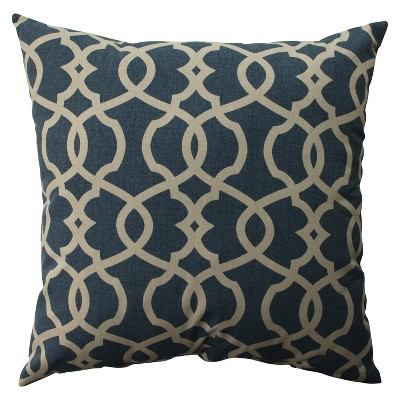 """Blue Emory Oversized Throw Pillow 24.5""""x24.5"""" - Pillow Perfect"""