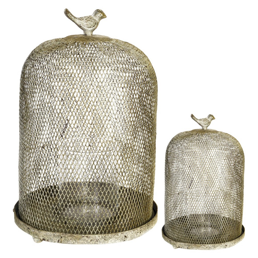 Image of 2pc Gibson Speakeasy Candle Lanterns - A&b Home, Brown