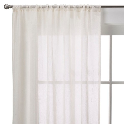 Crinkle Sheer Curtain Panel - Room Essentials™ - image 1 of 2