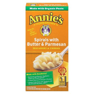 Annie's Spirals with Butter and Parmesan 5.25 oz