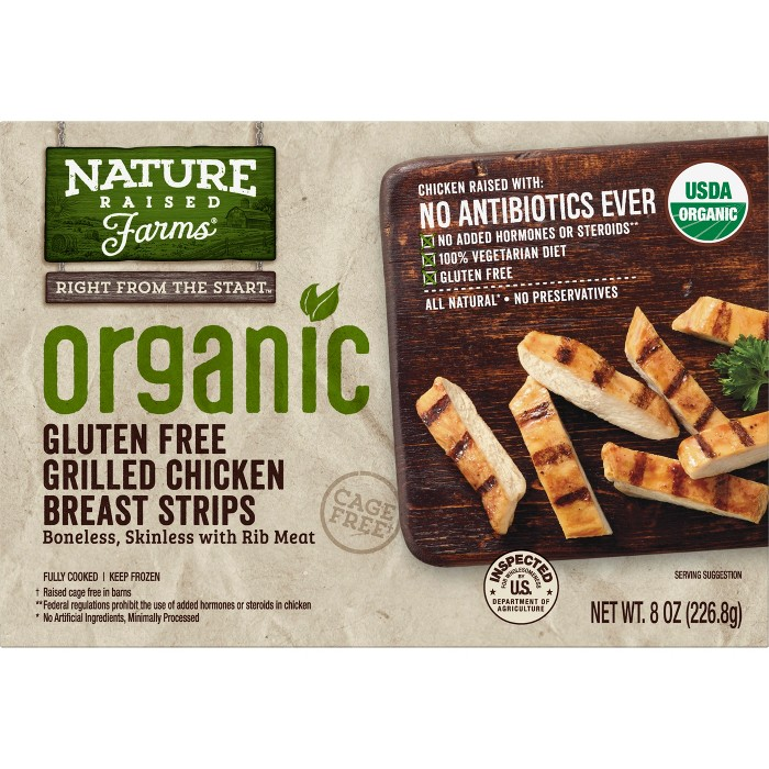 Nature Raised Farms Organic Grilled Chicken Breast Strips - 8oz - image 1 of 2