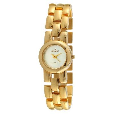 Women's Peugeot Interchangeable Bracelet Watch Set - Gold and Pearl