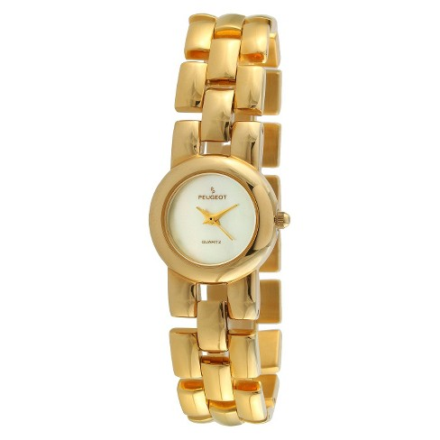 Women's Peugeot® Interchangeable Bracelet Watch Set - Gold and Pearl - image 1 of 2
