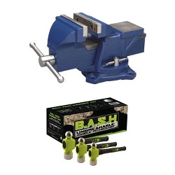 Wilton 4 Inch Anvil Work Bench Vise + 3 Piece Ball Peen Hammer Kit